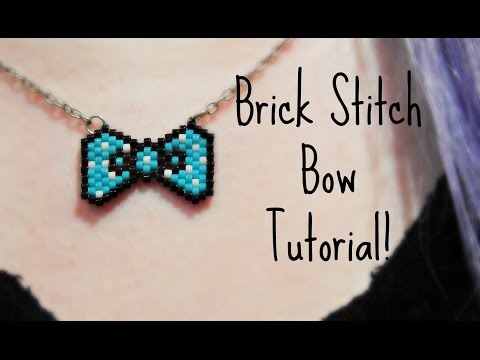 DIY Beaded Bow Necklace How To ¦ The Corner of Craft