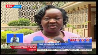The enactment of the two thirds gender rule is expected to pick momentum once parliament resumes