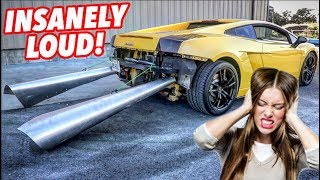 WORLDS BIGGEST AND LOUDEST LAMBORGHINI EXHAUST EVER!
