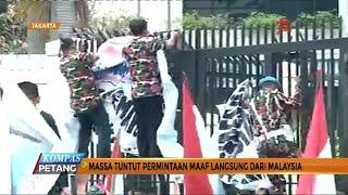 Massa Demo Kedubes Malaysia Terkait Bendera Indonesia Terbalik