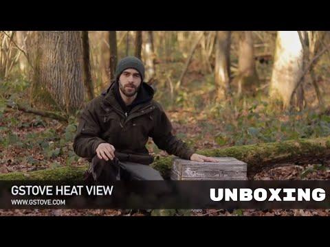 Походная отопительная печь Gstove Heat  View Camping Stove (Увеличенная мощность, жаропрочное видовое стекло)