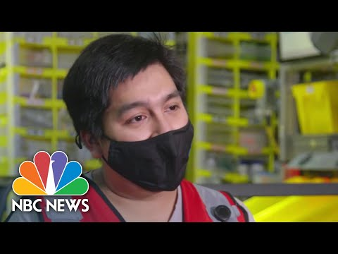 Behind The Scenes At An Amazon Warehouse | NBC Nightly News