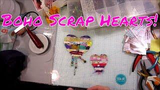 Boho Fabric Scrap Hearts! So CUTE!