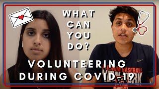 HOW TO Volunteer During COVID-19 (Medical and Non Medical opportunities)