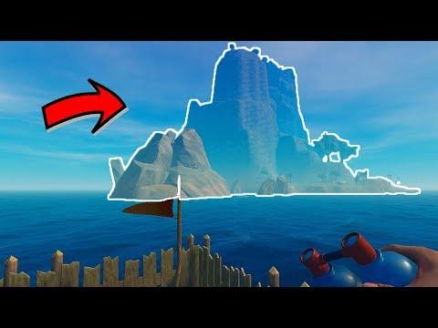 النجاة في البحر | لقيت أكبر جزيرة في اللعبة! RAFT