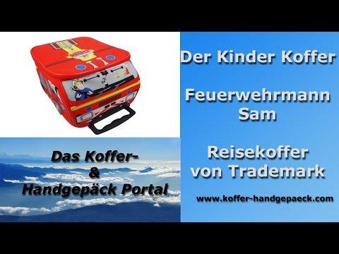 Kinder Koffer Feuerwehrmann Sam – Reisekoffer von Trademark