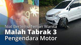 Demi Bertemu Teman Wanitanya, Seorang Pria Nekat Sewa Mobil hingga Tabrak 3 Motor di Semarang