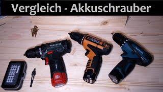 Vergleich Akkuschrauber - Parkside Worx Makita