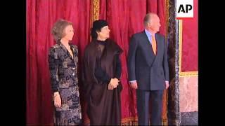 Libyan leader meets King Juan Carlos