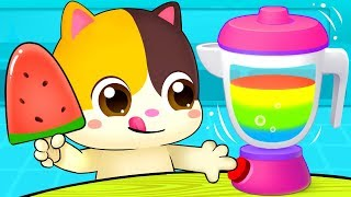 Rainbow Ice Pop   Colors Song | Vegetables Song | Learn Colors | Nursery Rhymes | Kids Songs|BabyBus