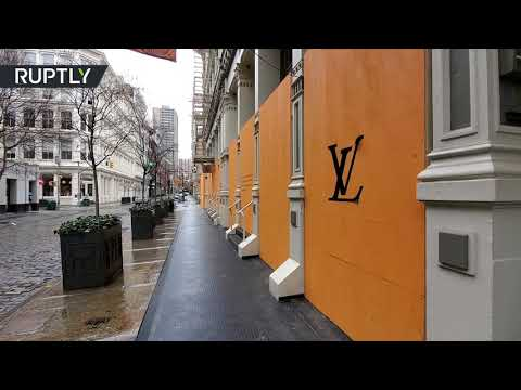 Pausing Luxury | NY SoHo boutiques boarded up as COVID-19 cases surge