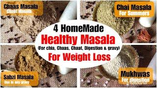 Healthy Homemade Masala/ Spices Recipes | How To Make Chaat, Gravy, Tea, Masala At Home| In Hindi