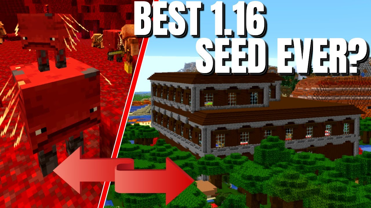 The BEST Minecraft Seeds for the 1.16 nether Update - Could THIS one be the WINNER? MINECRAFT SEED -931867804274397901