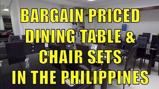 Bargain Priced Dining Table And Chair Sets In The Philippines.