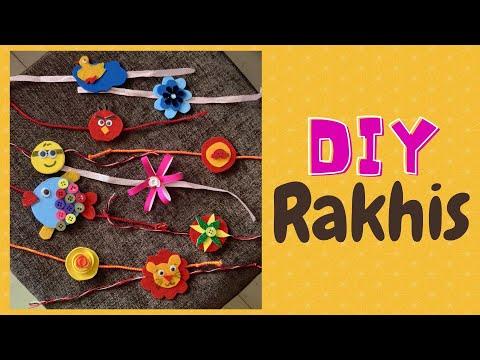 How to make Rakhi at Home | 10 easy Rakhi ideas| DIY easy Rakhi for kids | Raksha Bandhan Special