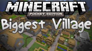 MASSIVE VILLAGE SEED!!! - Biggest Village in MCPE? - Minecraft PE Pocket Edition