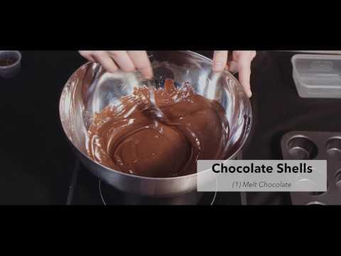 Chocolate Shells With Orange Puree And Enzyme Peeled Orange Segments Using Ultratex & Pectinex
