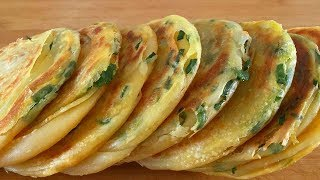 """2 salted egg yolks, a handful of green onions, different """"green onion cakes"""", I love to eat!"""