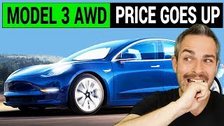 Tesla Model 3 Dual Motor AWD Price Goes Up by $1,000
