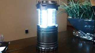 Ultra Bright LED Light Camping Lantern Unboxing And Review