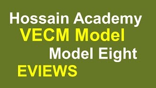 VECM model. Model Eight. EVIEWS