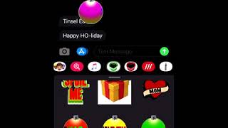 Holiday Texting Stickers by Deven & Ned