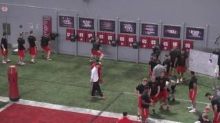 The Ohio State Buckeyes Offensive Line working Quick hands with The Difference