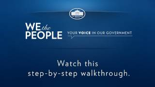 WhiteHouse.gov/WeThePeople