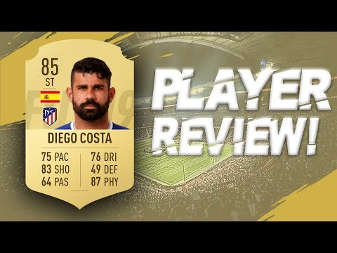 FIFA 19 - 85 RATED DIEGO COSTA PLAYER REVIEW | FIFA 19 ULTIMATE TEAM PLAYER REVIEW!!!