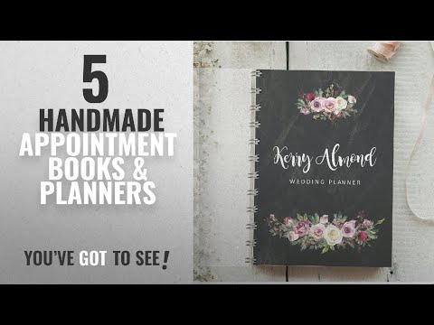 Top 10 Handmade Appointment Books & Planners [2018]: Personalised Wedding Planner Chalkboard
