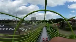 VR動画で沖縄 ツアー『 浦添大公園の滑り台 』4K 360°カメラの動画