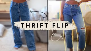 How To Tailor Mens Jeans *thrift Flip*