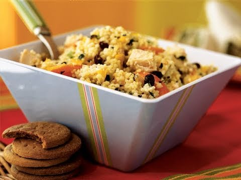 Couscous Salad with Chicken and Chopped Vegetable Recipe
