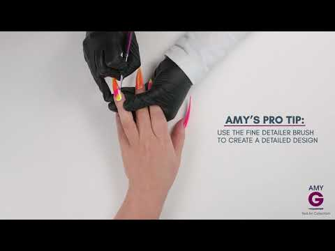 How to get the fluorescent powder fantasy look - Amy G Nail Art Collection