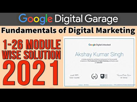 Google Digital Marketing Answers of all Modules 1-26   Google ...