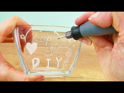 DIY Geschenkidee GLAS GRAVIEREN für die beste Freundin | Kathi testet den dremel 3000