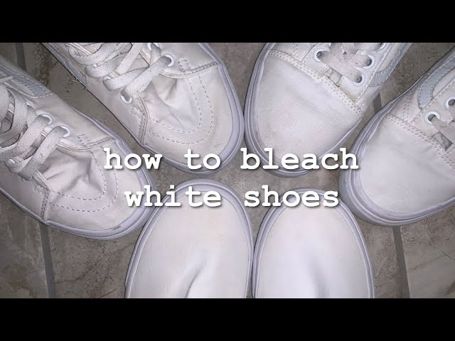 How To Bleach White Shoes