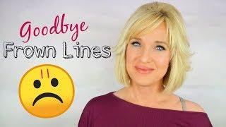 HOW TO GET RID OF Frown Lines, Eleven Lines, Glabella Lines! NO BOTOX OR FILLERS!