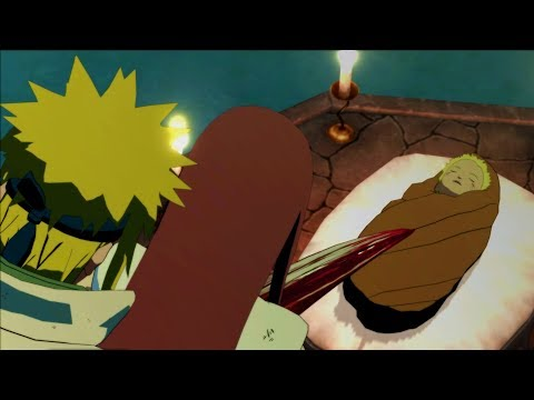 Birth of Naruto - Naruto Shippuden Ultimate Ninja Storm 3 - Kushina and Minato Death by Kurama 😭
