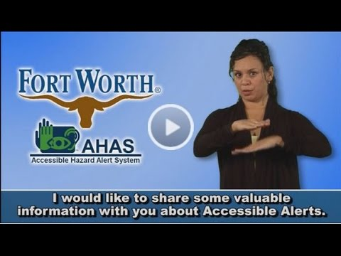 ABC Affiliate WFAA in DFW features AHAS (Accessible Hazard Alert