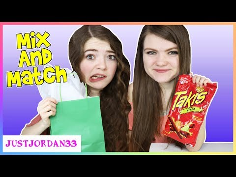 Mix and Match Weird Food Combination Challenge / JustJordan33