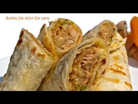Burrito de atún de lata