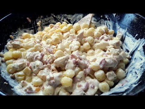 Ñoquis de patata, pollo, bacon y queso fundido / ESPECTACULARES / Video nº 46