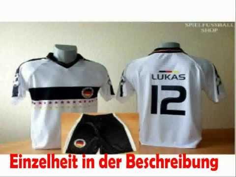 Deutschland Trikot + Hose mit Wunschname + Nummer Kinder Größe 116 billig