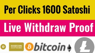 Earn Free $5 Daily || Per Click 1600 Satoshi Withdraw Proof || New Earning Website Worldwide 2020
