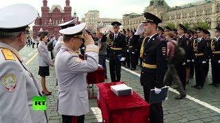 На Красной площади прошло вручение дипломов слушателям Московского университета МВД