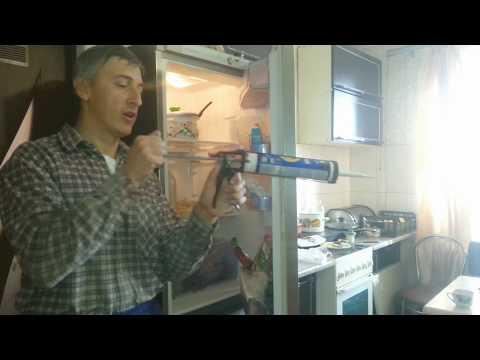 Восстановление порванной резины холодильника