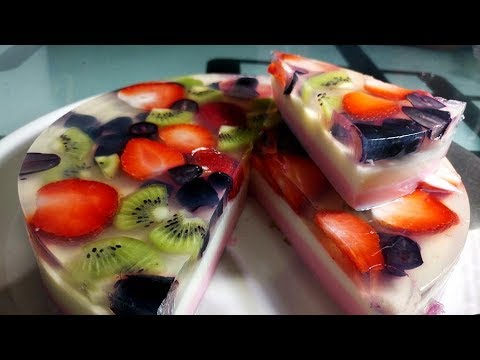 Jelly Fruit Halwa, Desert recipe, English Subtitle / Agar Agar (China Grass) Pudding