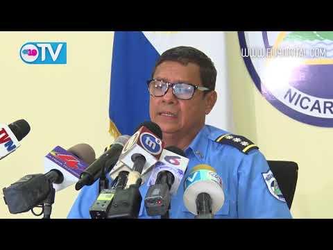 Policía Nacional presenta a dos terroristas y un asesino que delinquieron en San Carlos, Carazo y Managua