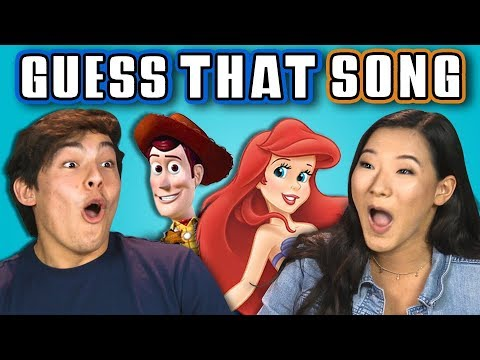 TEENS GUESS THAT SONG CHALLENGE: DISNEY SONGS (REACT)